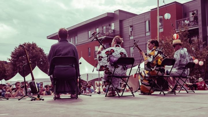 Performance de MTL Shamisen Project au Matsuri Japon 2019 - Crédit photo : Ryan Rumpel